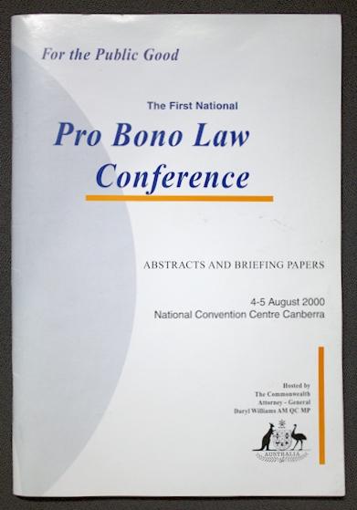 pro bono conference 2000