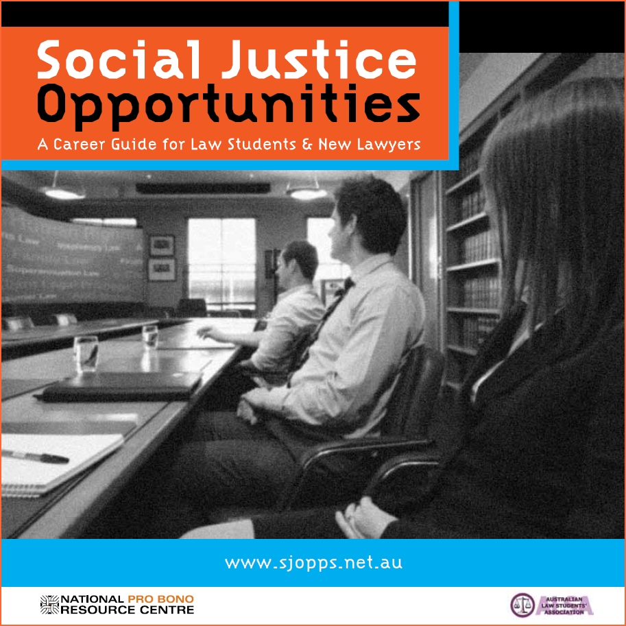 Social Justice Opportunities guide
