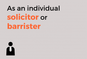 As a solicitor or barrister