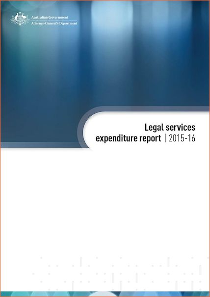 Commonwealth Legal Service Expenditure Report 2015-16
