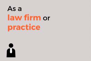 As a law firm or practice