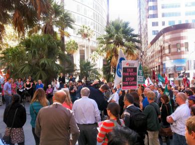 Welfare Rights rally 2013